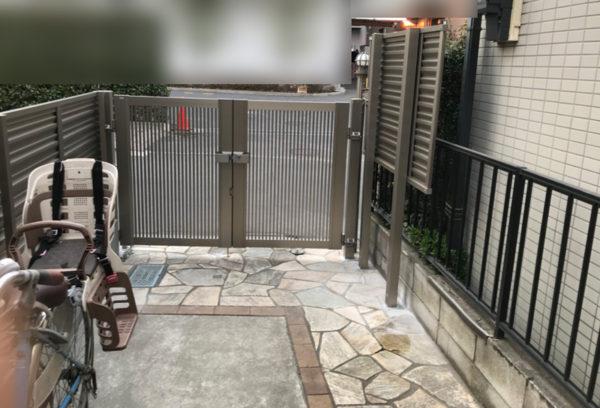 埼玉県川越市目隠しフェンスと門扉4