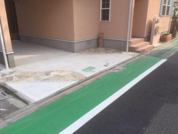 西東京市の新築エクステリアのコンクリート工事6