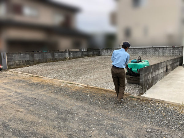 川越市山田 砂利敷き工事6