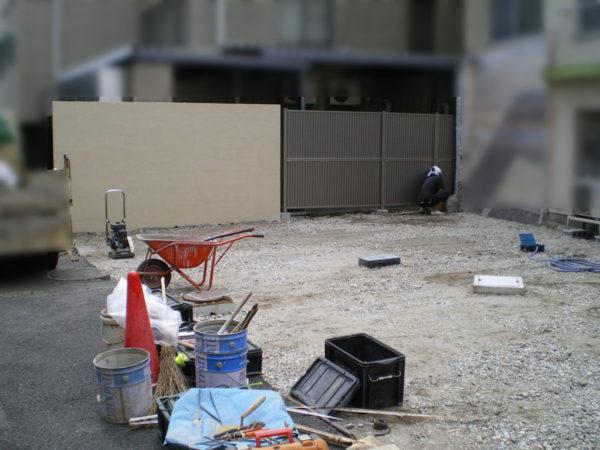 三鷹市 フェンス・ブロック塀の設置6