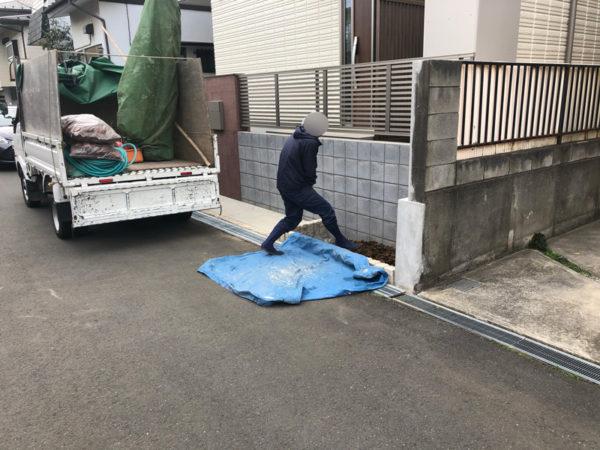 新築エクステリア(外構)工事1