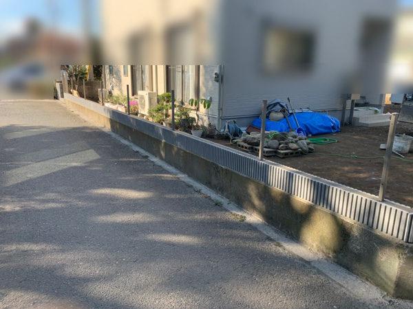 所沢市 狭山ヶ丘フェンスと門扉の設置工事2