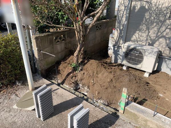 所沢市 狭山ヶ丘フェンスと門扉の設置工事4