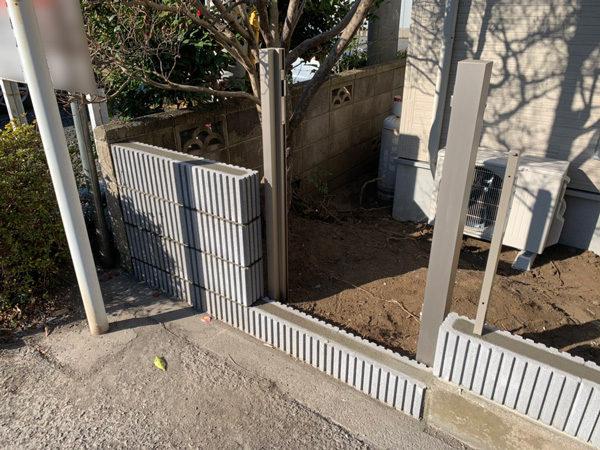 所沢市 狭山ヶ丘フェンスと門扉の設置工事5