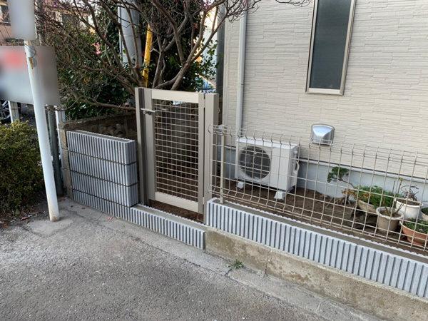 所沢市 狭山ヶ丘フェンスと門扉の設置工事6