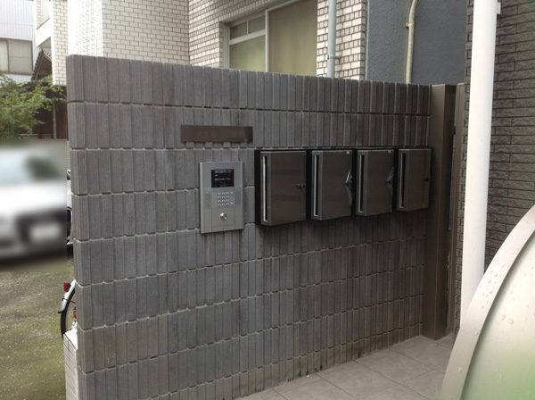 川越市小仙波のアパートの集合ポストと門扉工事1-1