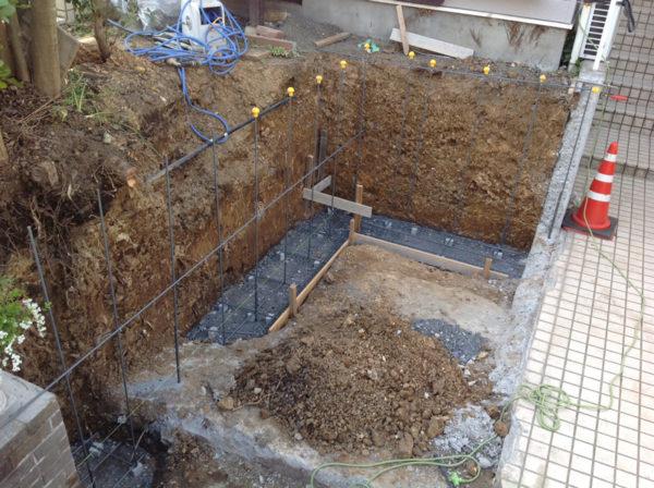 所沢市ブロック塀の補修と土間コンクリート工事2