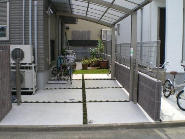 川越市小仙波 駐車場のコンクリート工事施工後