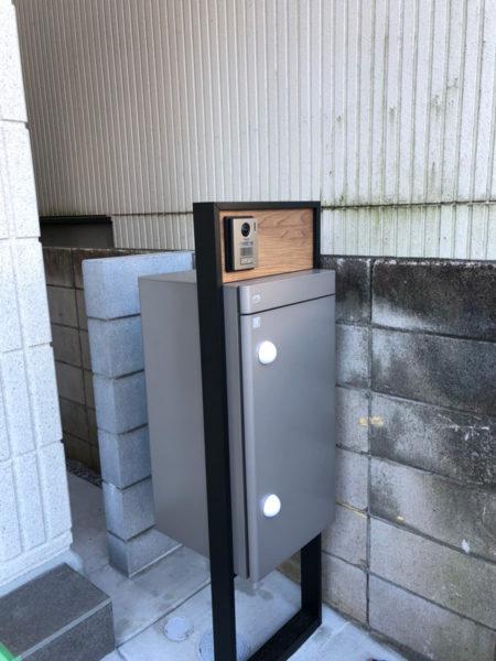 所沢市の宅配ボックス設置工事8-1