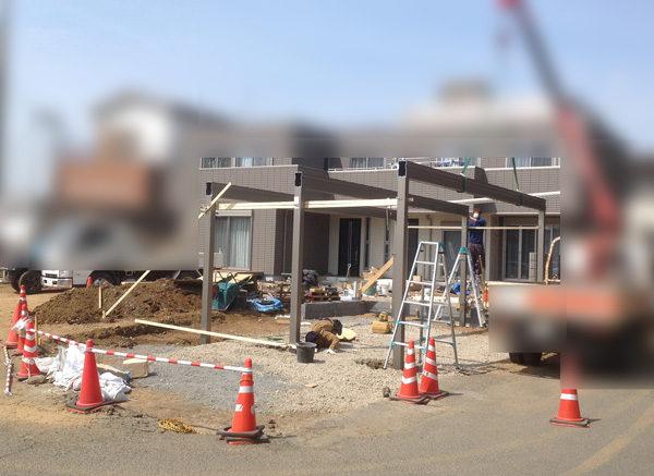 川越市 カーポート設置工事【新築エクステリア】2-2