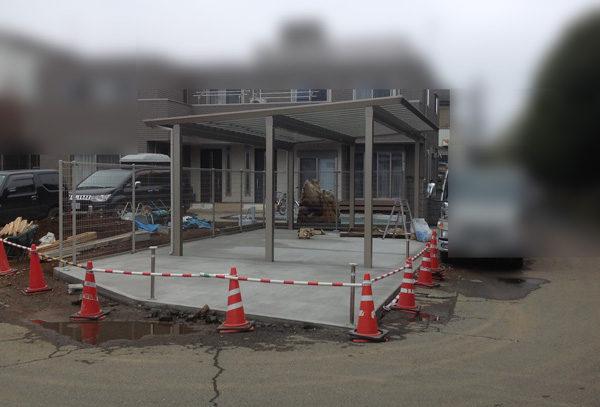 川越市カーポート設置工事3-3