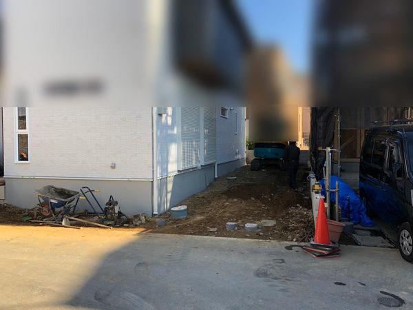 さいたま市西区土間コンクリート工事1