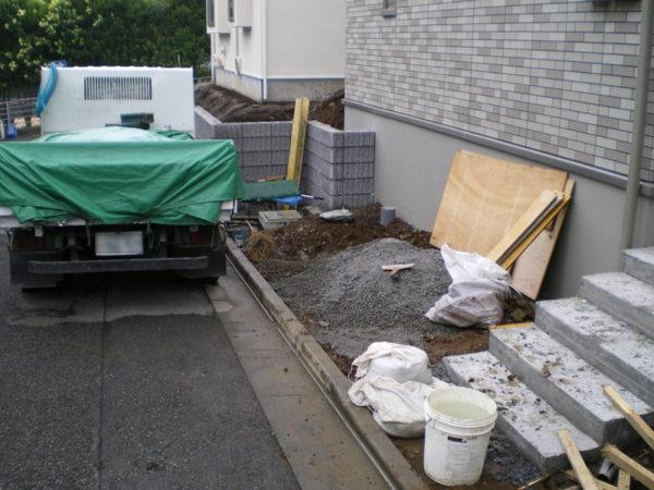 川越市土間コンクリートおすすめ業者6 施工前横
