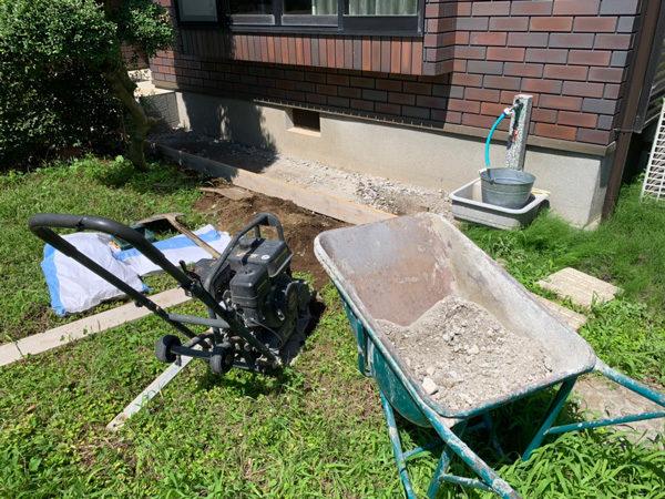 所沢市犬走りの土間コンクリート2-1