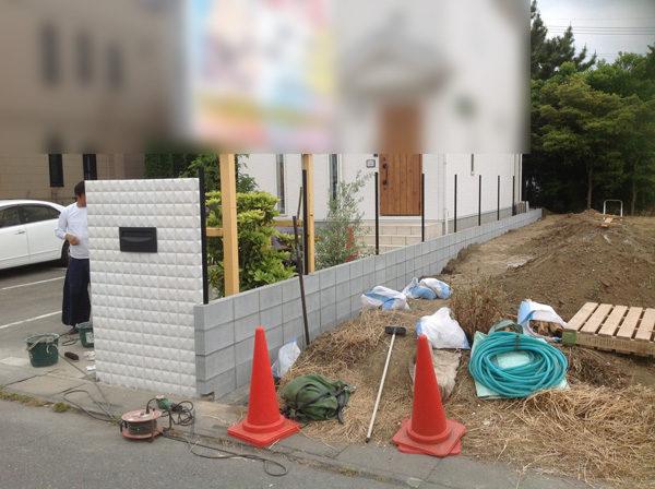 花壇ブロック塀フェンス3