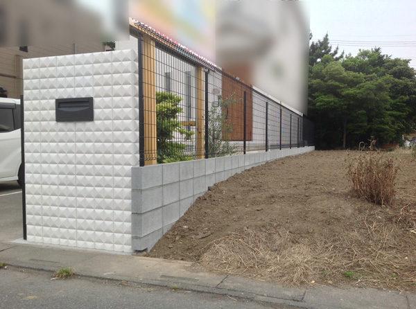 花壇ブロック塀フェンス4