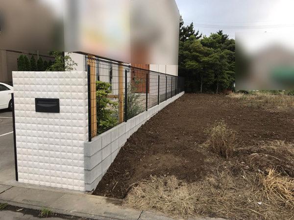 花壇ブロック塀フェンス6