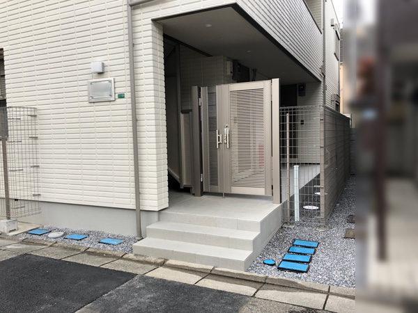 川越市のアパートの門扉部分2の施工後
