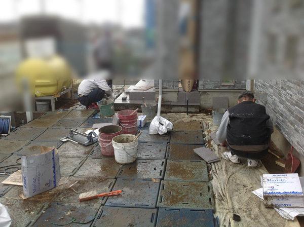 日高土間コンクリート工事施工中2