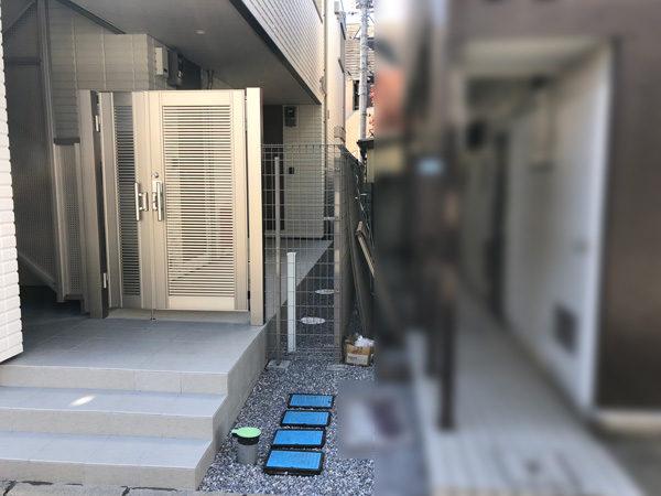 川越市のアパートの門扉部分1施工後