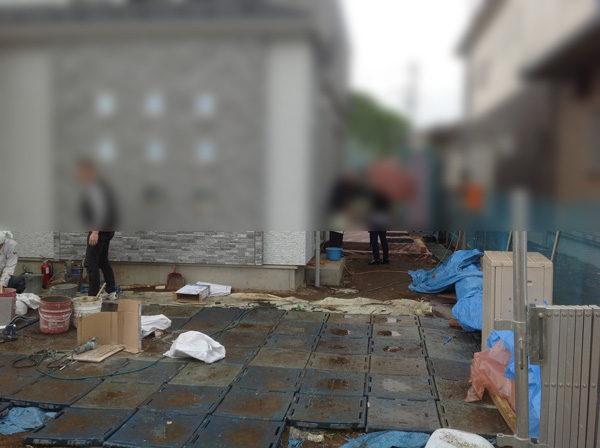 日高土間コンクリート工事施工中4