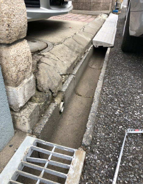 川越市の段差工事1
