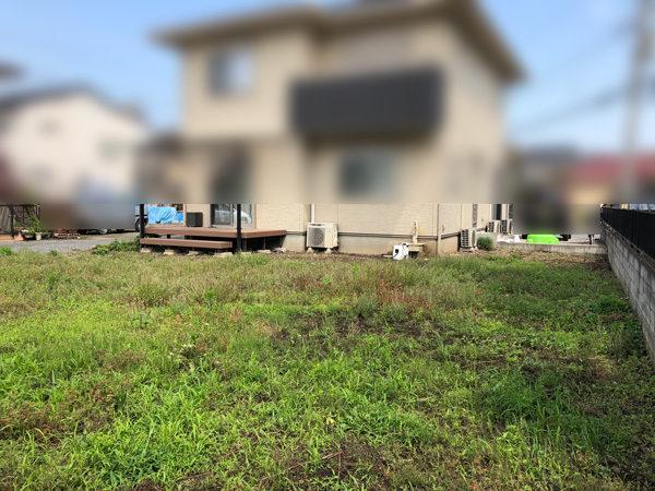 川越市の人工芝の施工1工事前