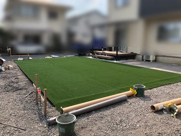川越市の人工芝の施工4