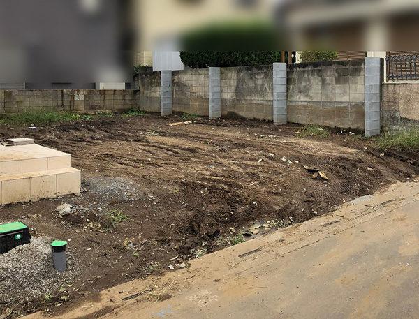 土間コンクリート部分の施工前2-3