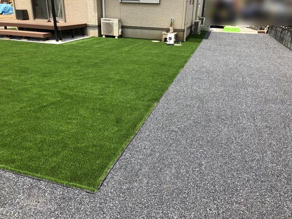 川越市の人工芝の施工完成後1