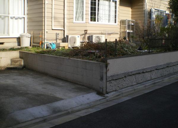 川越市のフェンス工事の施工前2-1