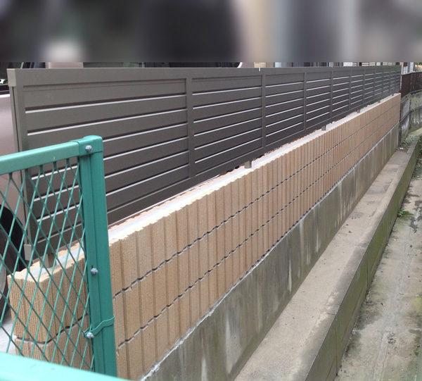 川越市フェンス工事施工前3