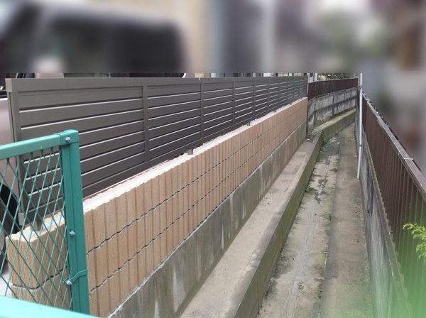 川越市フェンス工事施工前4