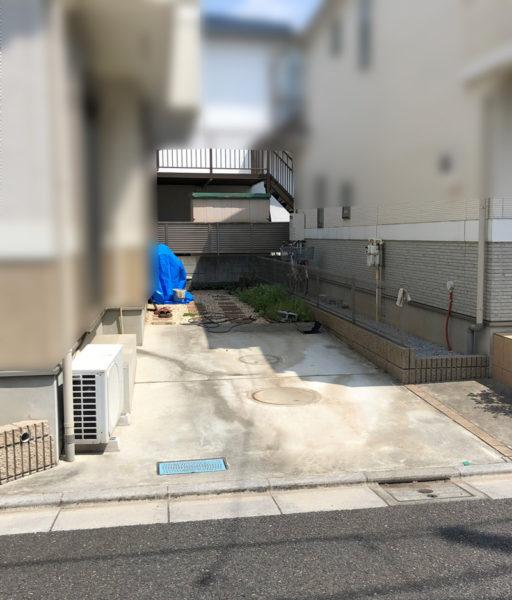 駐車場の工事の施工前1re1