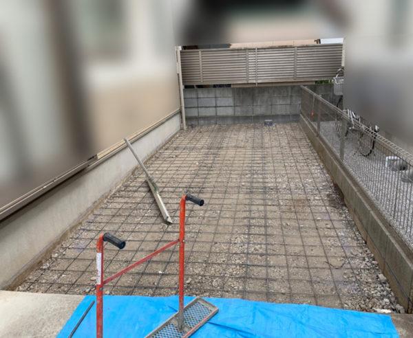 駐車場工事の施工中re3