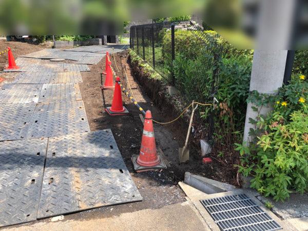 ブロック塀フェンス補強工事施工前