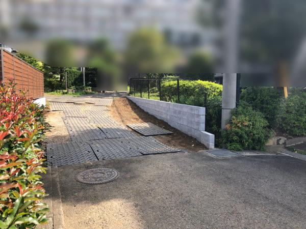 ブロック塀フェンス補強施工後