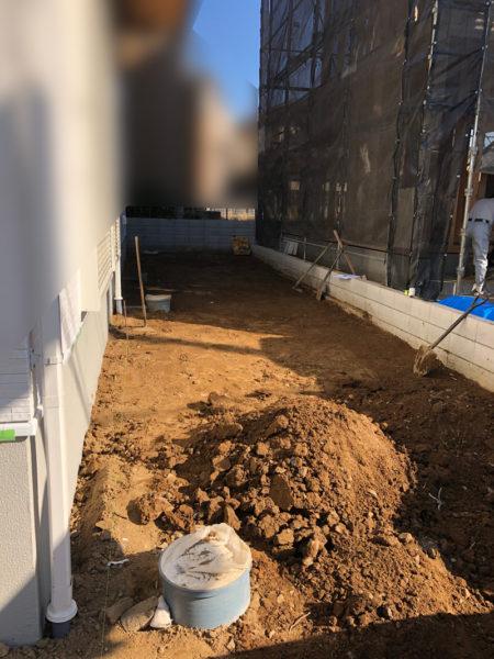 土間コンクリート施工中の様子2