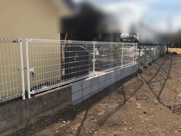 ふじみ野市ブロック塀フェンスの補修