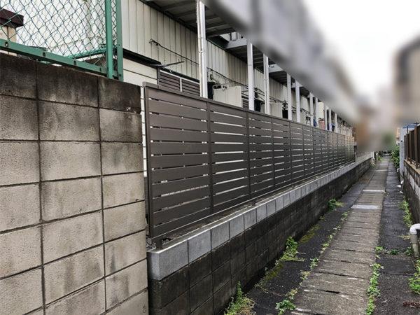 川越市のフェンス工事の比較1-3