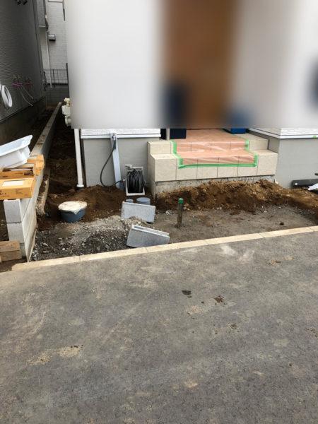 機能門柱の部分施工前1