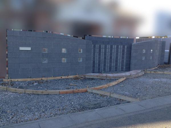 川越市の土間コンクリート工事の施工中の様子