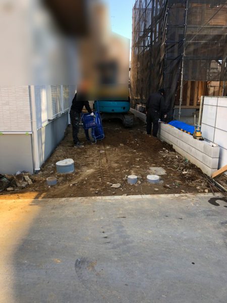 土間コンクリート施工前の様子1