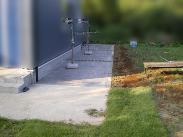 土間コンクリート施工中8