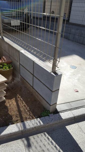 小規模ブロック施工後8