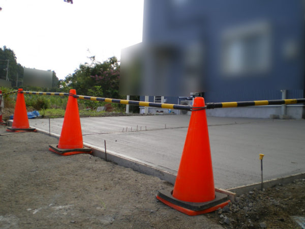 土間コンクリート施工中2