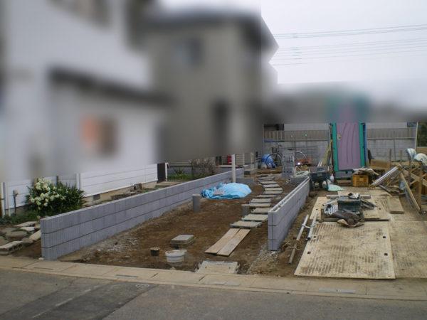 駐車場コンクリートとカーポート施工前1