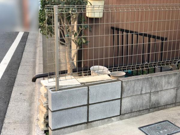 小規模ブロック施工中5