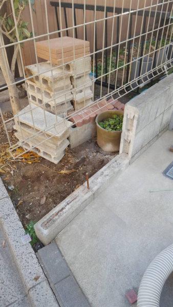小規模ブロック施工前1