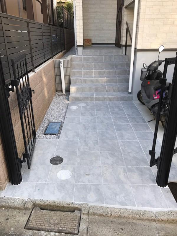 川越市小仙波 玄関の階段工事のサムネイル